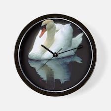 White Swan Wall Clock