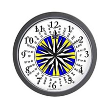 Star of The North Compass Rose Wall Clock