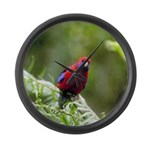 Tropical Parrot Large Wall Clock