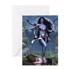 Eastern Goddess Kali Greeting Card