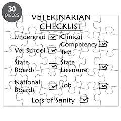 Veterinarian Checklist Puzzle