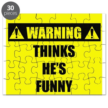 WARNING: Thinks He's Funny Puzzle