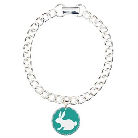 Bunny Rabbit Charm Bracelet, One Charm