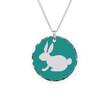 Bunny Rabbit Necklace Circle Charm