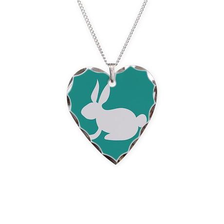 Bunny Rabbit Necklace Heart Charm