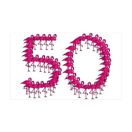 50th Birthday 38.5 x 24.5 Wall Peel