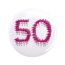 "50th Birthday 3.5"" Button (100 pack)"