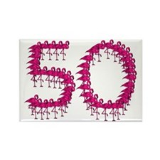 50th Birthday Rectangle Magnet (10 pack)