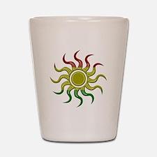 Sun Rasta Shot Glass