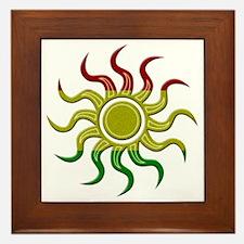 Sun Rasta Framed Tile