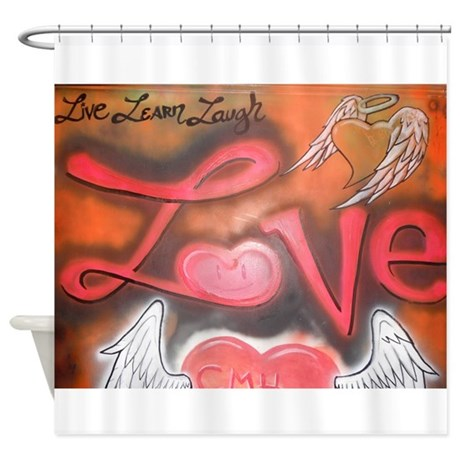 Live, Learn, Laugh, Love Shower Curtain