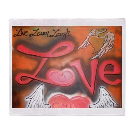 Live, Learn, Laugh, Love Throw Blanket