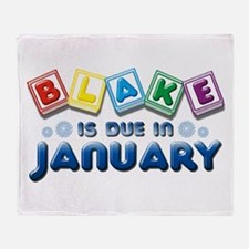 Blake is Due in January Throw Blanket