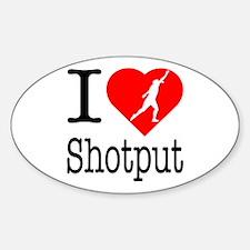 I Love Shotput Decal