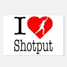 I Love Shotput Postcards (Package of 8)