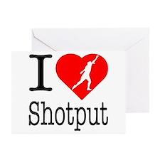 I Love Shotput Greeting Cards (Pk of 20)