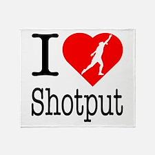 I Love Shotput Throw Blanket