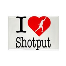 I Love Shotput Rectangle Magnet