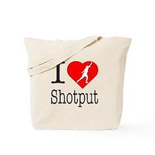 I Love Shotput Tote Bag