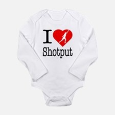 I Love Shotput Long Sleeve Infant Bodysuit