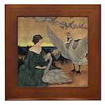Winter's Wild Swans Framed Tile