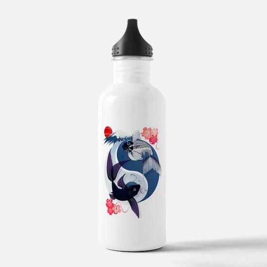 Yin and Yang Koi Water Bottle