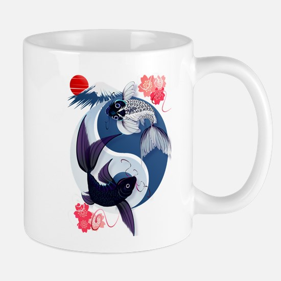 Yin and Yang Koi Mug