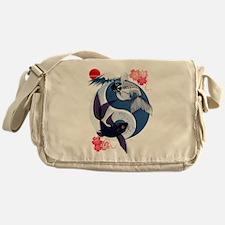 Yin and Yang Koi Messenger Bag