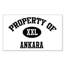 Property of Ankara Rectangle Decal