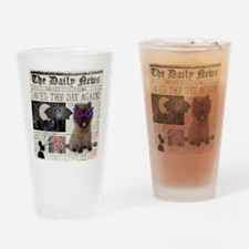 Superhero Cairn Terrier Drinking Glass