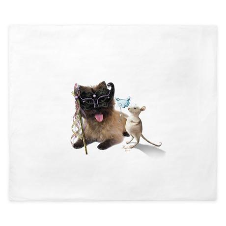 Cairn Terrier with Rat King Duvet