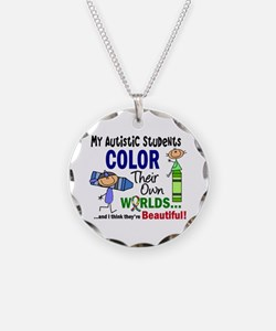Colors Own World Autism Necklace