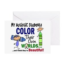 Colors Own World Autism Greeting Card