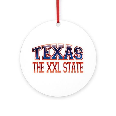 TEXAS - The XXL State Ornament (Round)