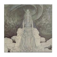 Dulac's Snow Queen Tile Coaster