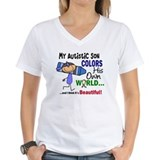 My son has autism Womens V-Neck T-shirts