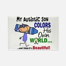 Colors Own World Autism Rectangle Magnet (10 pack)