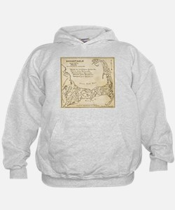 Old Cape Cod Map Hoodie