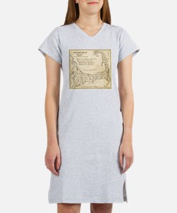 Old Cape Cod Map Women's Nightshirt