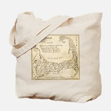 Old Cape Cod Map Tote Bag