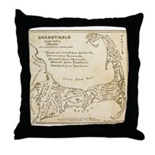 Old Cape Cod Map Throw Pillow