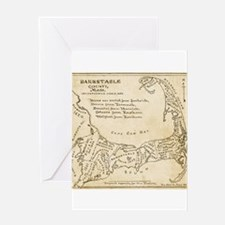 Old Cape Cod Map Greeting Card