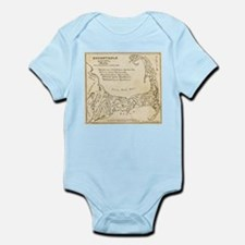 Old Cape Cod Map Infant Bodysuit