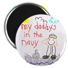 """Navy Dad 2.25"""" Magnet (10 pack)"""
