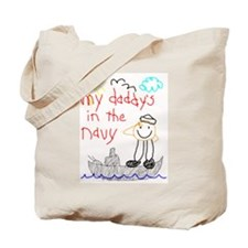 Navy Dad Tote Bag