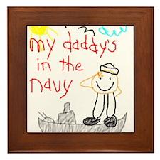 Navy Dad Framed Tile