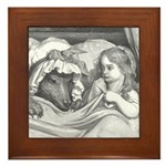 Dore's Red Riding Hood Framed Tile