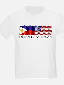 Fil Am Flag - Kids T-Shirt