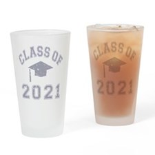 Class Of 2021 Graduation Drinking Glass