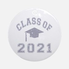 Class Of 2021 Graduation Ornament (Round)